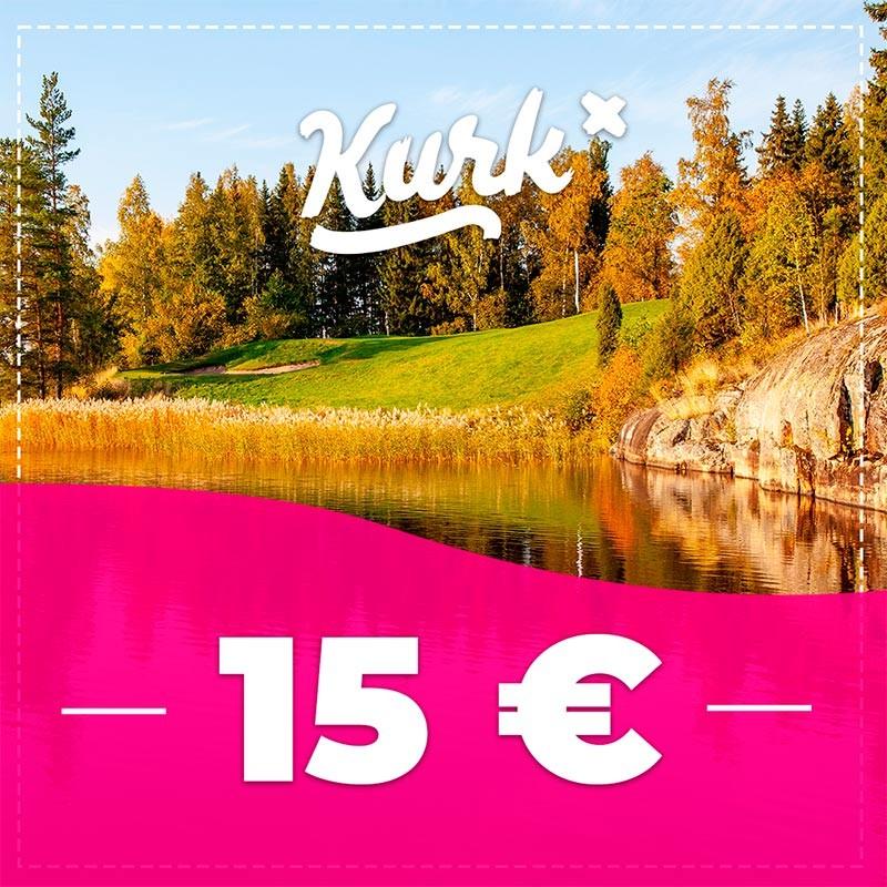 Kurk Golf arki green fee klo 12-15 lähtöihin
