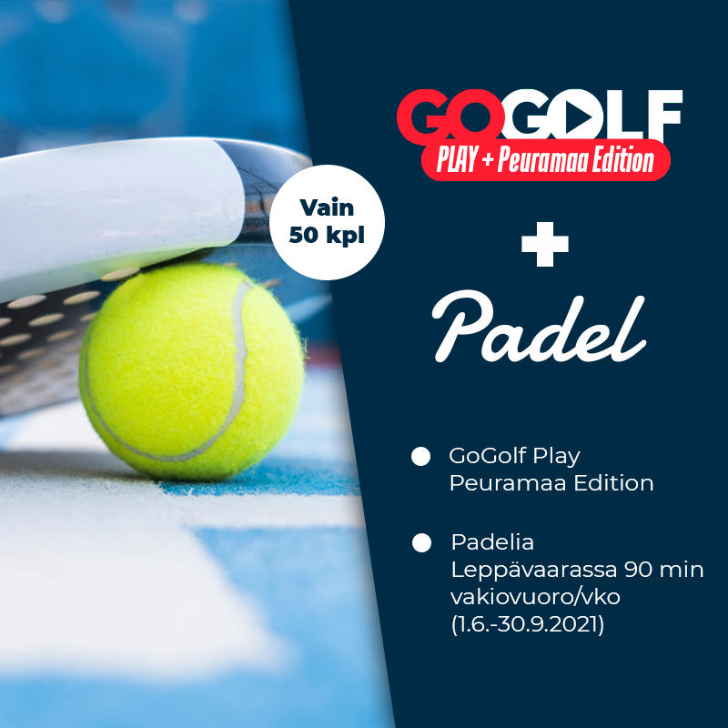 GoGolf Play Pelioikeus Peuramaa Edition + Padel