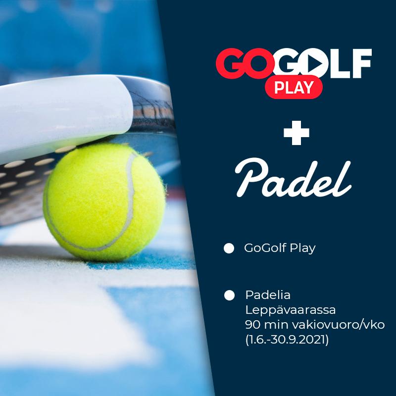 GoGolf Play Pelioikeus + Padel vakiovuoro